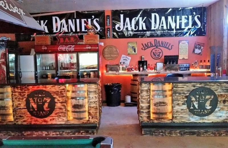 Bar at No Name City Luxury Cabins.