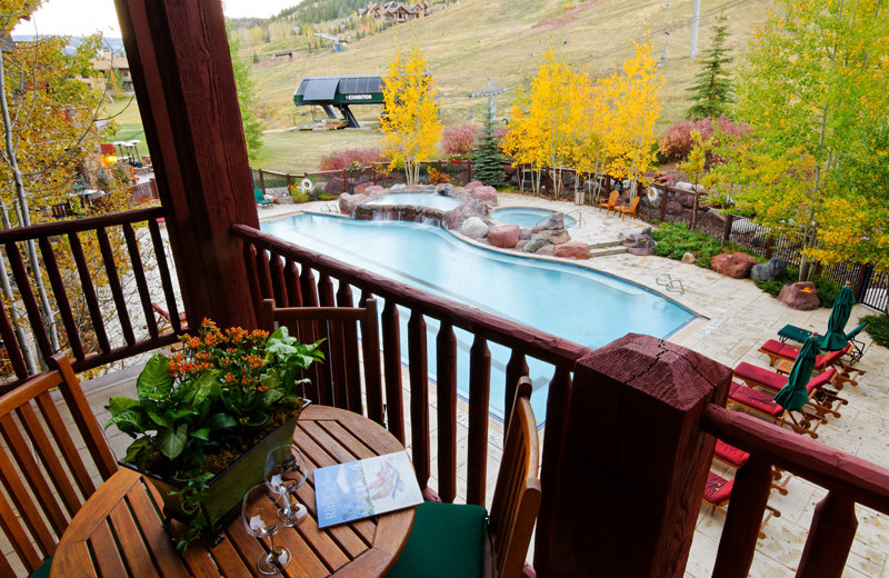 Rental balcony view at Frias Properties of Aspen.