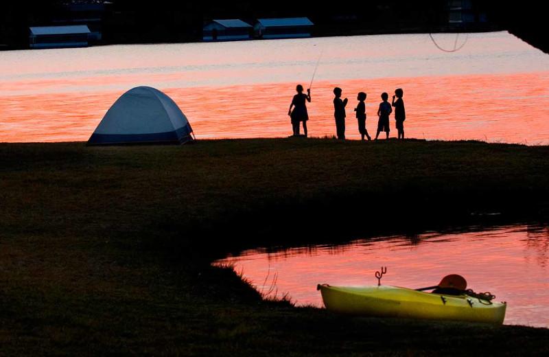 Fishing at Inks Lake State Park.