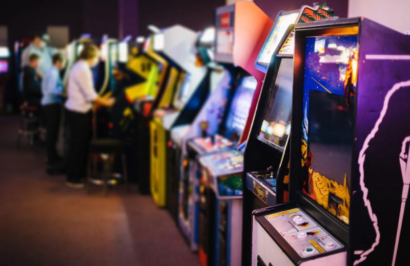 Video arcade at The Depe Dene Resort.