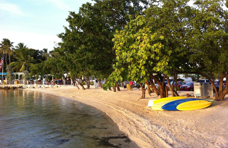 The beach at Lookout Lodge Resort.