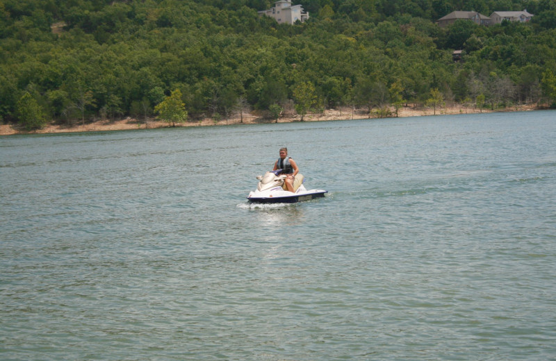Jet skiing at White Wing Resort on Table Rock Lake.