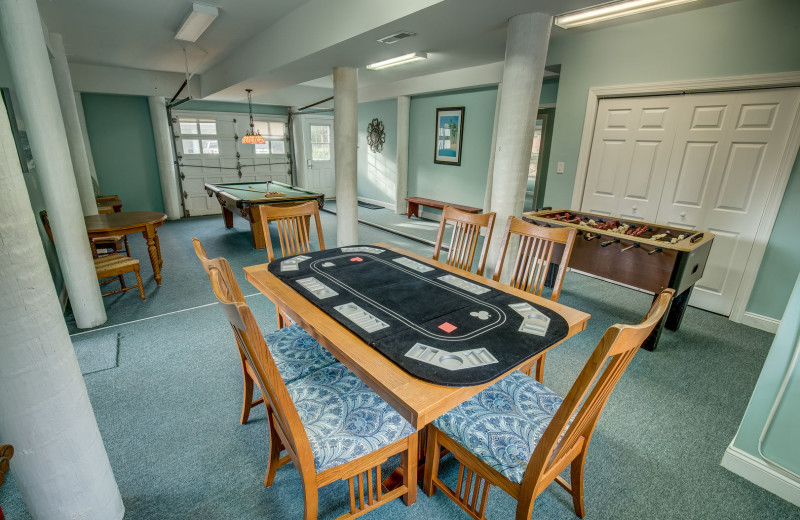 Rental game room at Sandbridge Blue Vacation Rentals.