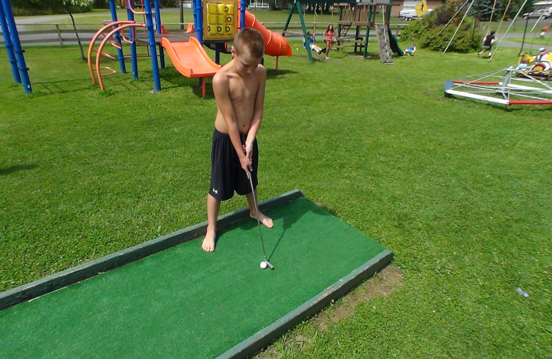 Mini golf at Pollace's Family Vacation Resort.