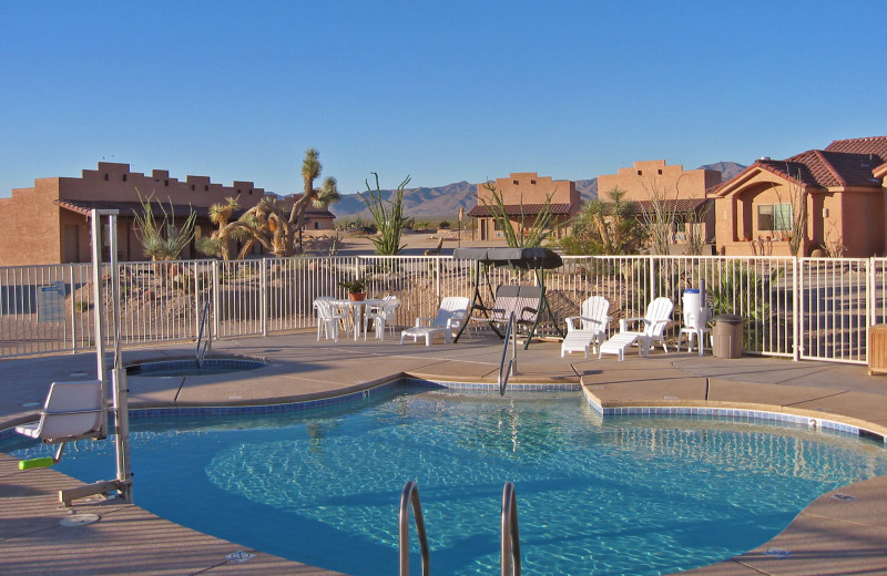 Outdoor pool at Stagecoach Trails Guest Ranch.