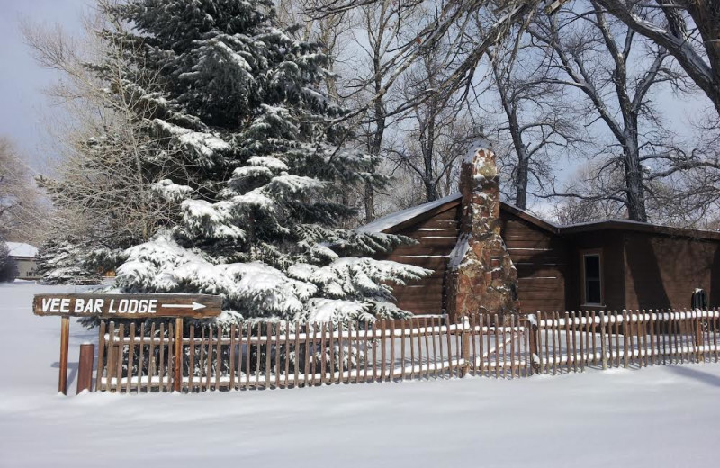 Exterior view of Vee Bar Guest Ranch.