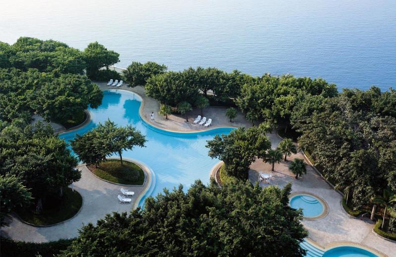 Outdoor pool at Shangri-La Hotel-Beihai.