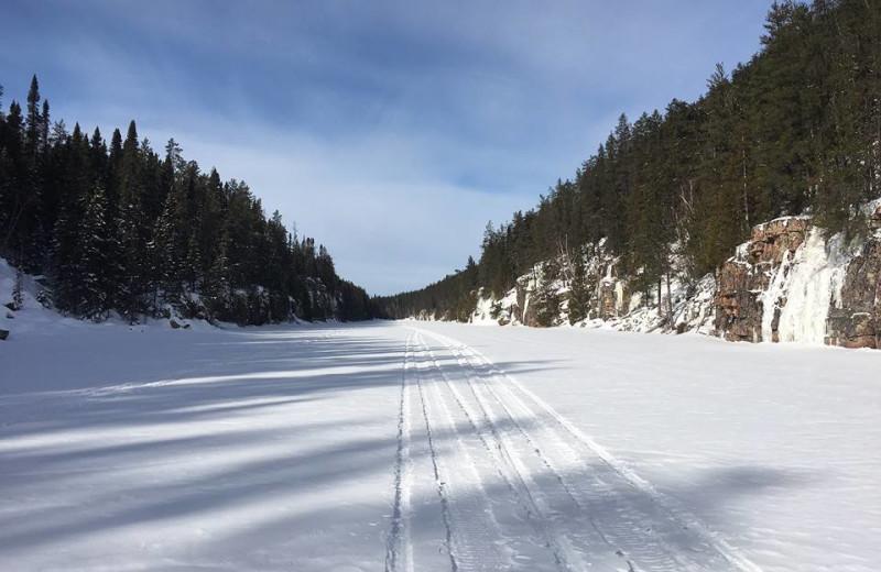 Winter at Elk Lake Wilderness Resort.