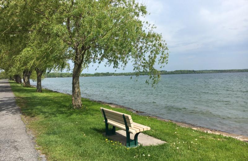 Lake view at Cobtree Vacation Rental Homes.