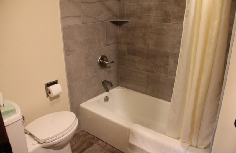 Guest bathroom at Gaston's White River Resort.
