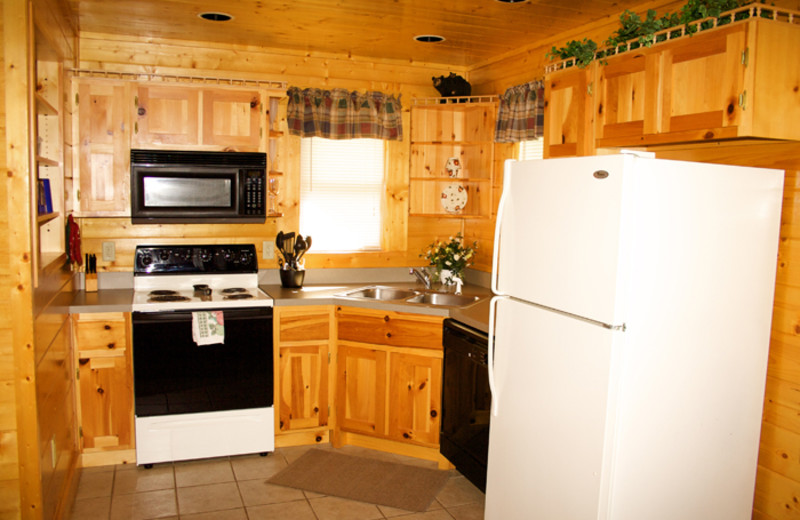 Kitchen at Cobbly Nob Rentals.