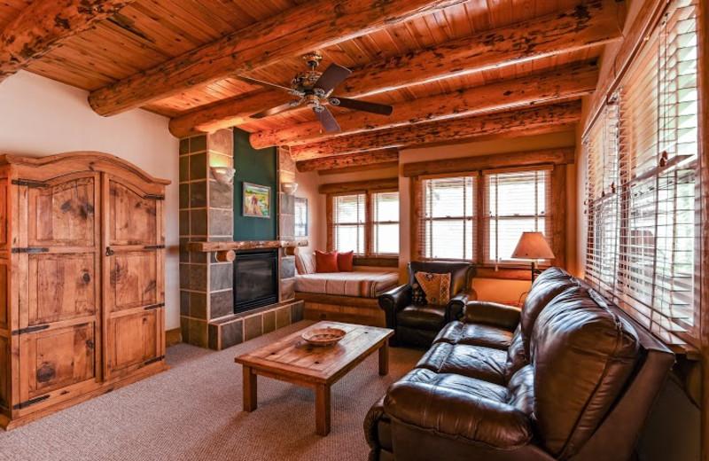 Guest living room at Chipeta Solar Springs Resort.
