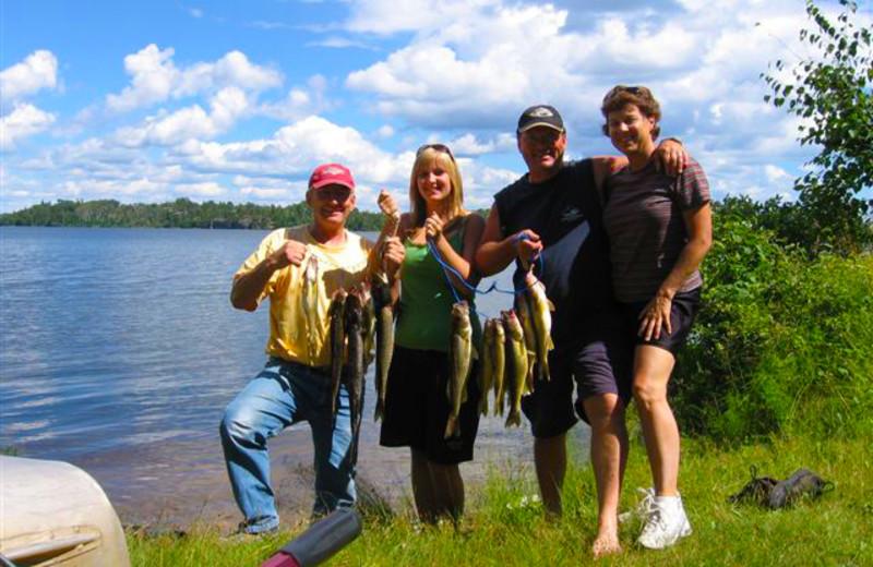 Fishing at Jessica Lake Lodge.
