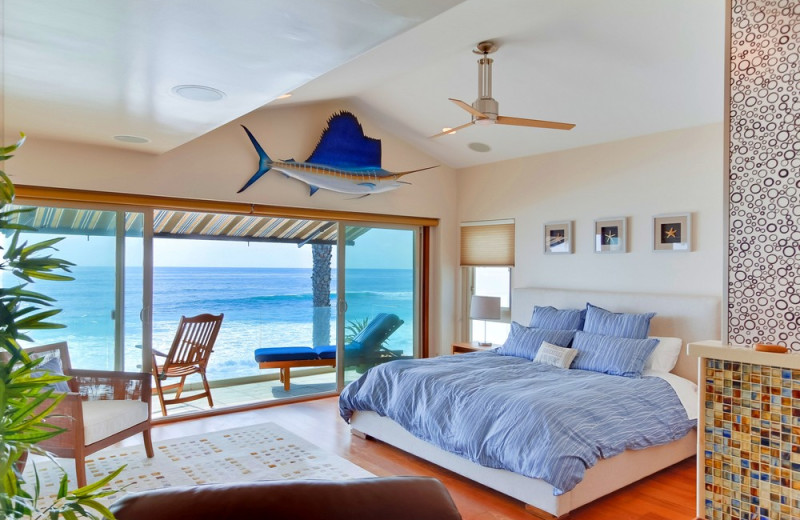 Rental bedroom at Bluewater Vacation Homes.