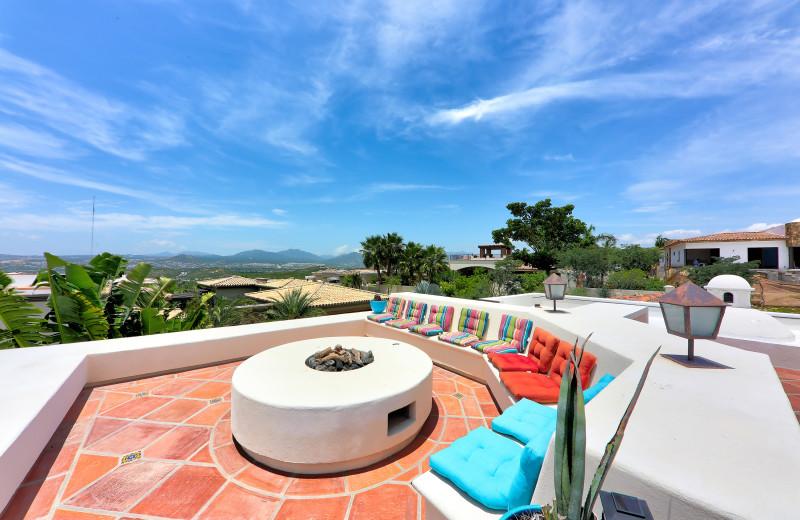 Rooftop patio at Casa Mar y Estrella.