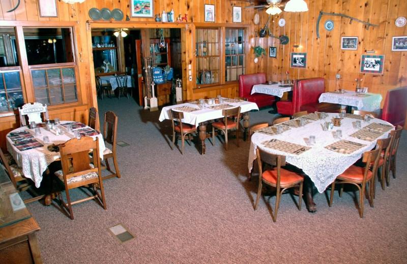 Dining room at St. Bernard Lodge.