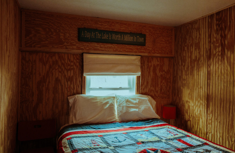 Cabin bedroom at Jacob's Cove.