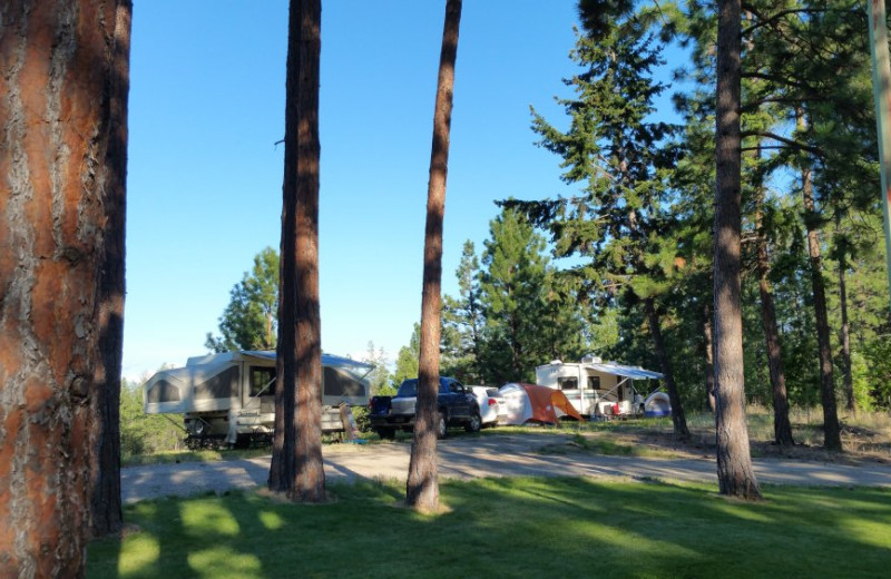 Campground at Powers Creek Retreat.