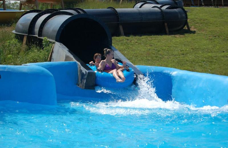 Water slide at Lake Ridge Resort.