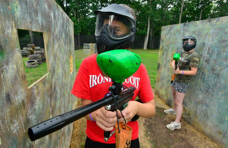 Paintball at Woodloch Resort.