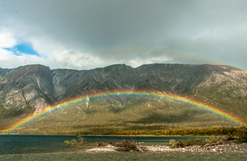 Rainbow at Angry Eagle Lodge & Outfitters.