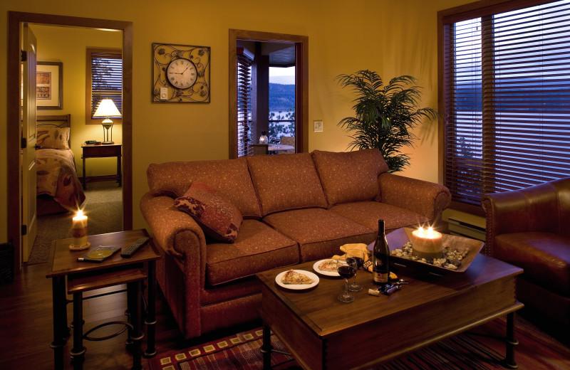 Cozy living area at Lake Okanagan Resort