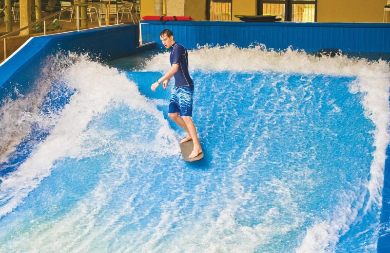 Surfing at Split Rock Resort & Golf Club.