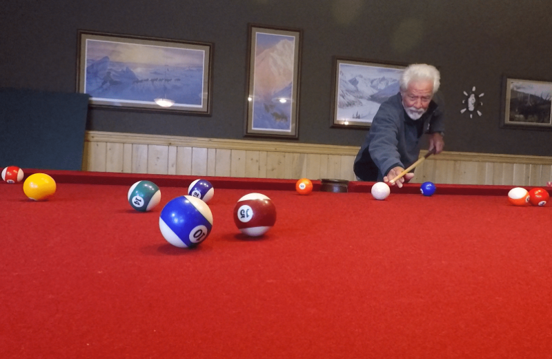 Billiards at Northwoods Lodge.