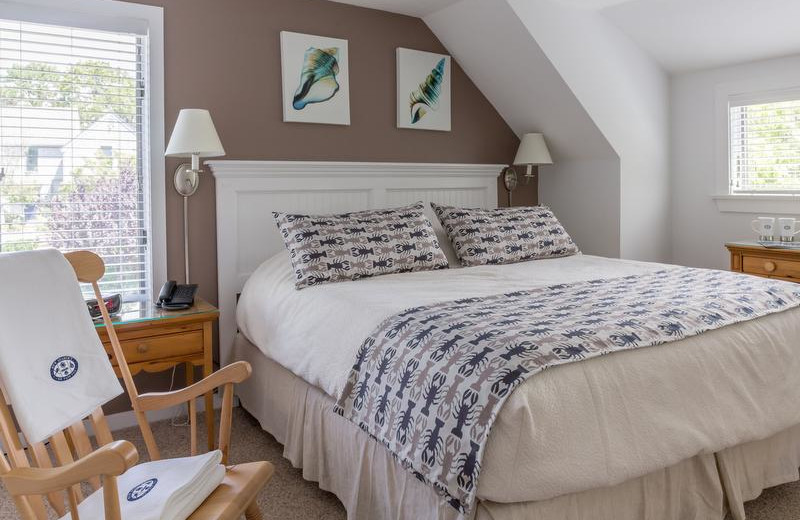 Cottage bedroom at New Seabury Resort.