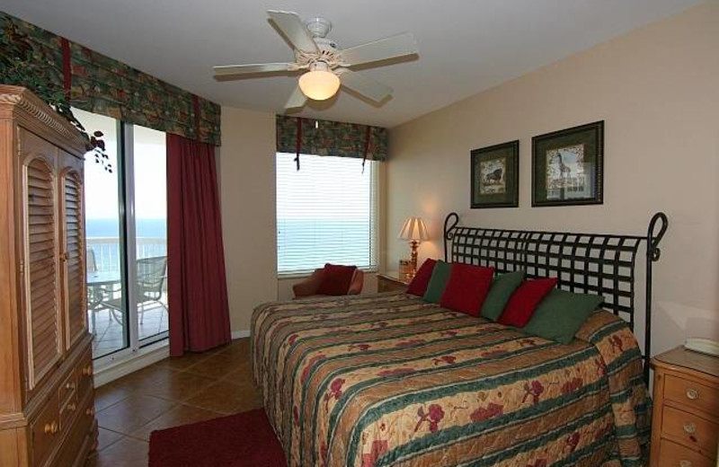 Guest room at Compass Resorts.