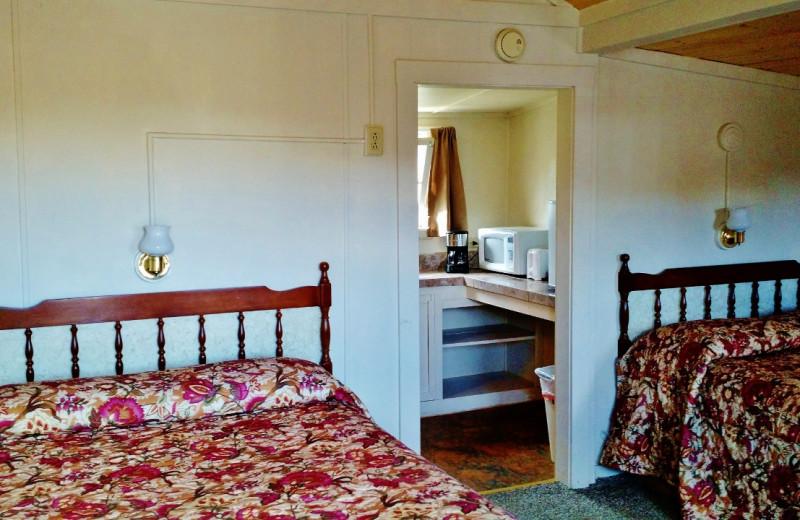 Guest room at East Glacier Motel & Cabins.
