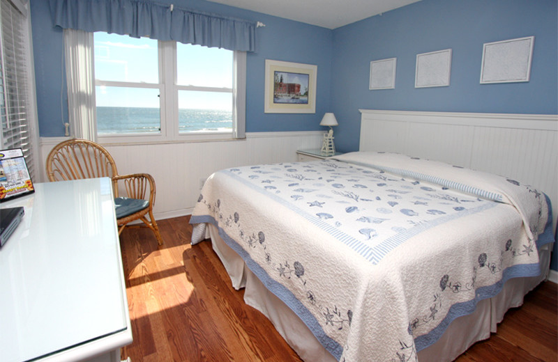 Rental bedroom at Seaside Vacations.