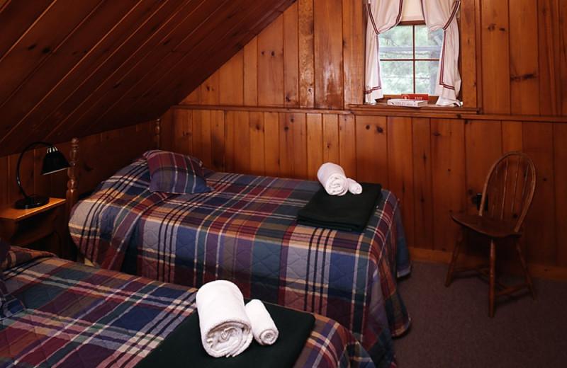 Main lodge bedroom at Elk Lake Lodge.