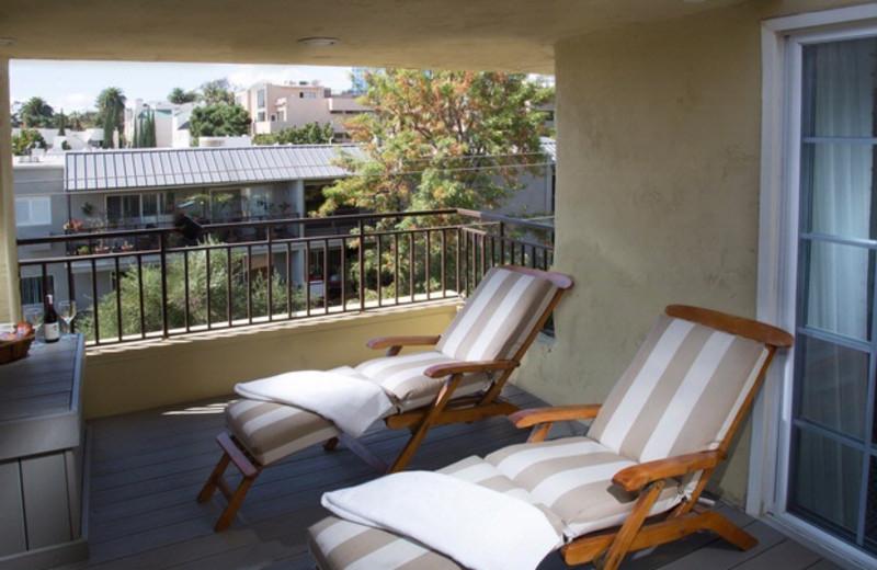 Balcony at Le Montrose Suite Hotel.