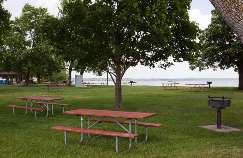 Lake view at Spicer Green Lake Resort.