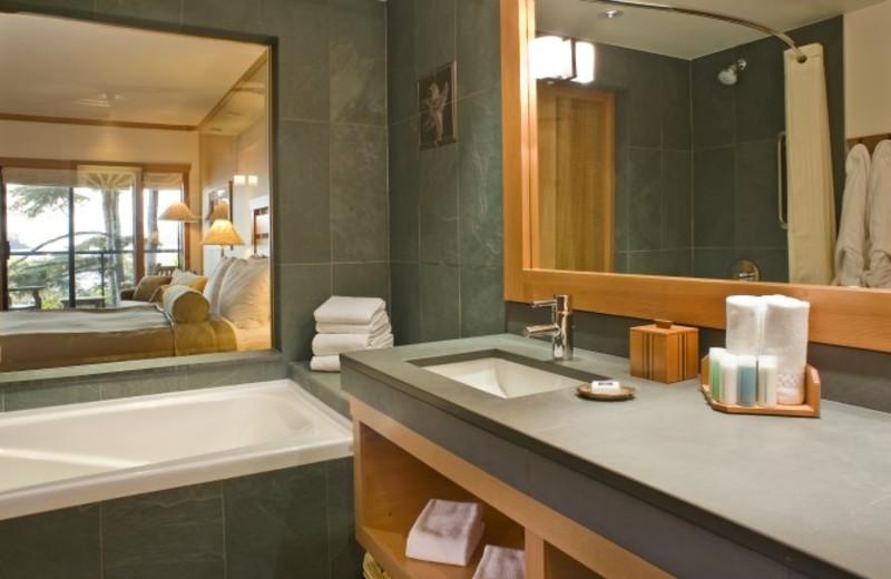 Guest bathroom at Wickaninnish Inn.