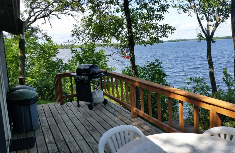 Cabin deck at Park Point Resort.
