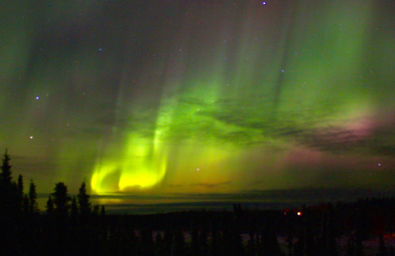 Northern lights at Marlow's On The Kenai.