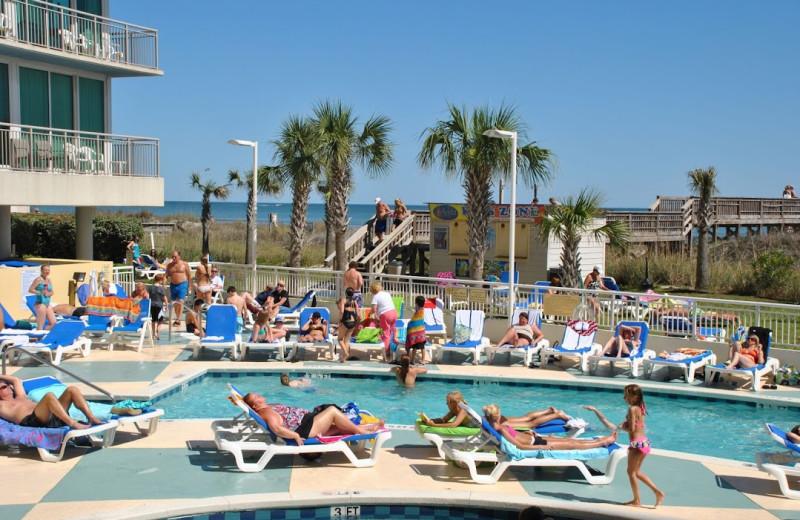 Poolside at Avista Resort.