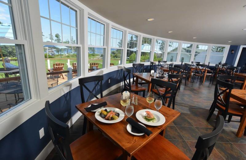 Dining at Newagen Seaside Inn.