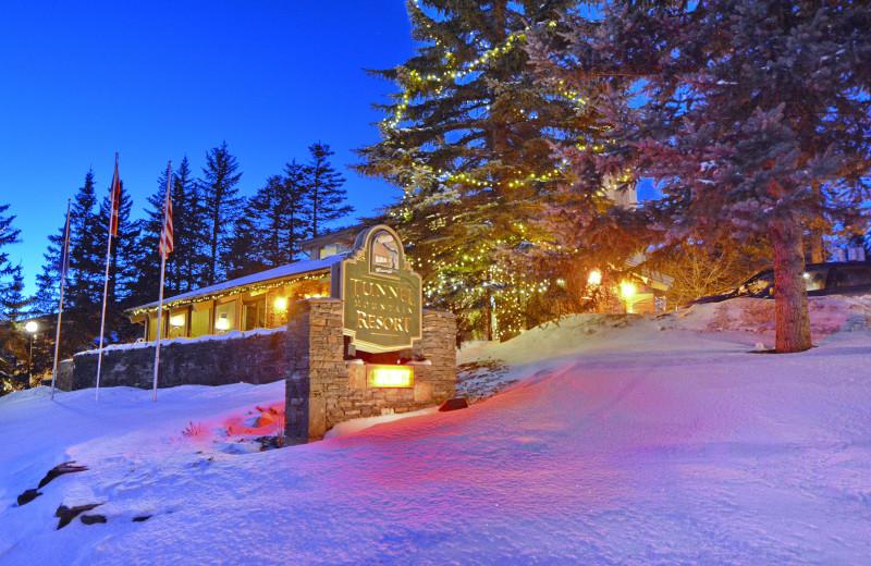Winter at Tunnel Mountain Resort