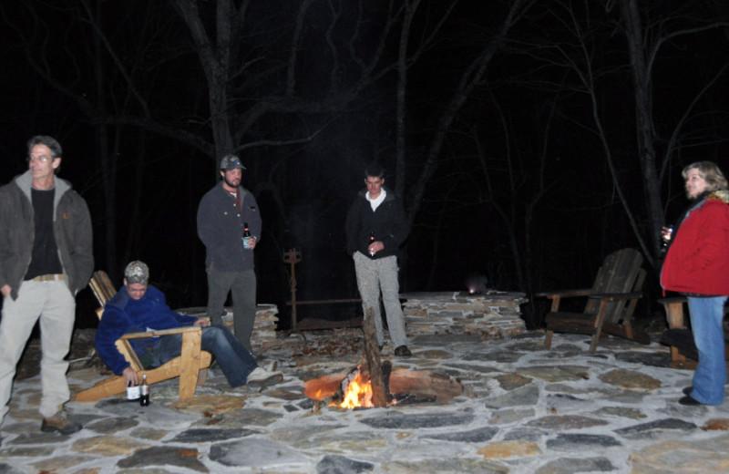 Fire pit at Singletree Gun