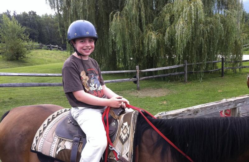Horseback riding at Wilburton Inn.