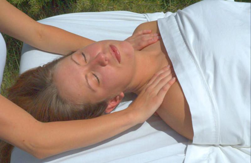 Shoulder massage at Zion Ponderosa Ranch.