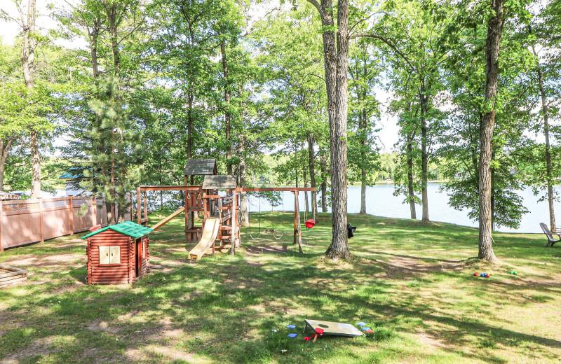 Cabin view at Sand Lake Resort.