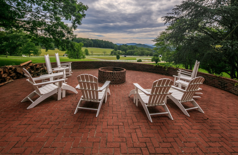 Patio & Fire Pit at The Horse Shoe Farm