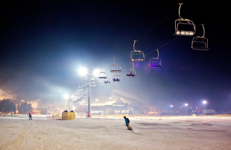 Skiing near Auntie Belham's Cabin Rentals.
