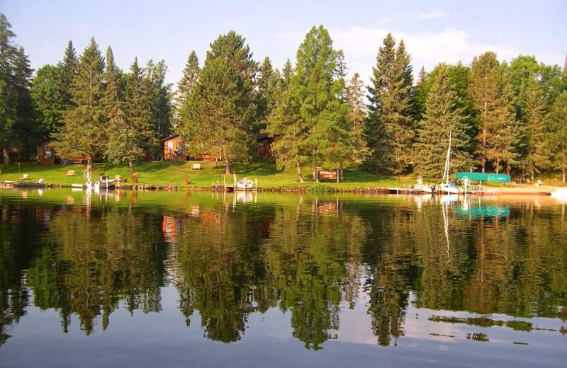 Lake view at Vacationland Resort.