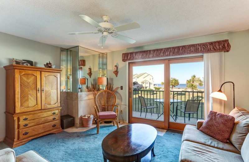 Rental living room at Beach Vacation Rentals.