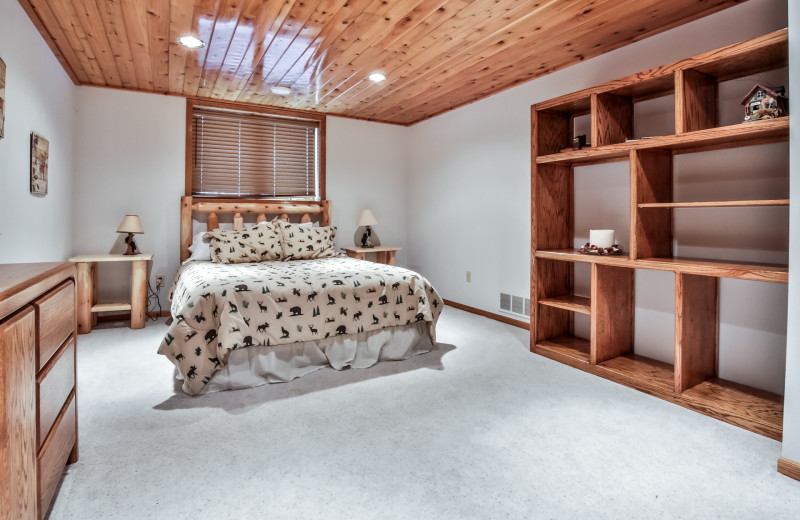 Rental bedroom at Hiller Vacation Homes.